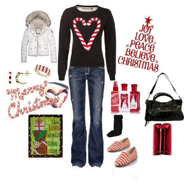 Love Christmas by cdalton73 on Polyvore featuring Abercrombie & Fitch, MEK, Eileen Fisher, Balenciaga, Lord & Taylor and Hunter