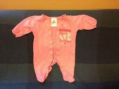 Pink Chicago Bears Sleeper 3 6 Months | eBay