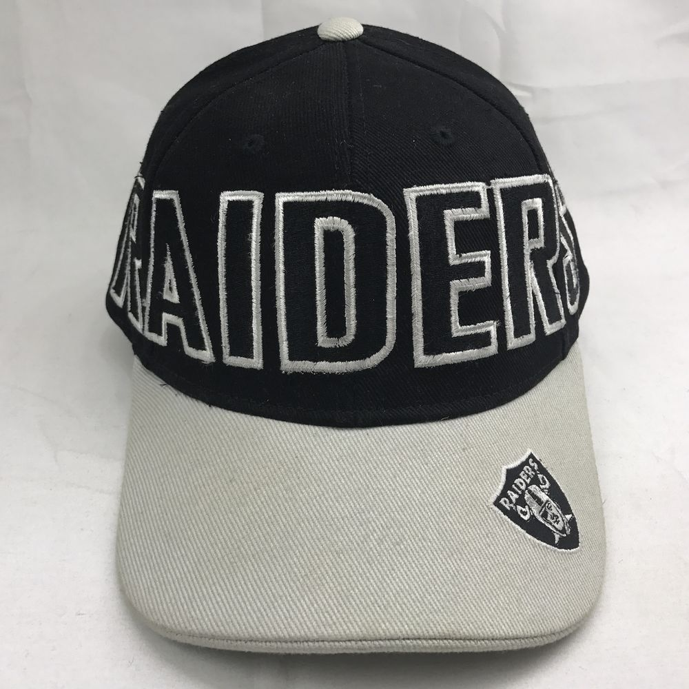 085ecd708de Oakland Raiders Reebok Cap Hat NFL Adjustable One Size Black Embroidered   Reebok  BaseballCap