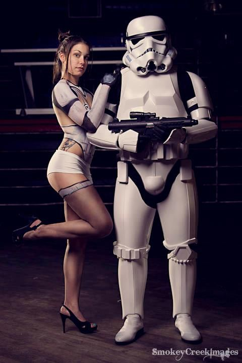 Sexy boba fett cosplay