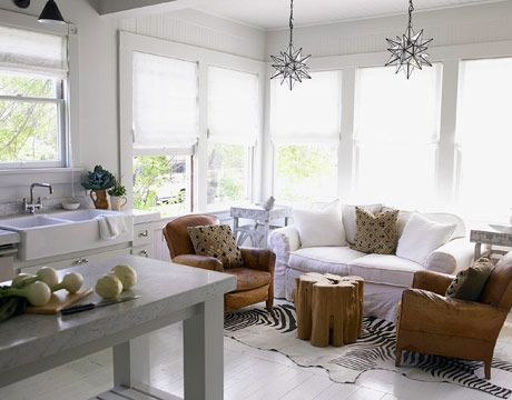 Lovely A Cozy Kitchen Hoefer Created A Cozy Sitting Area Where The Owner Can Read  His Morning
