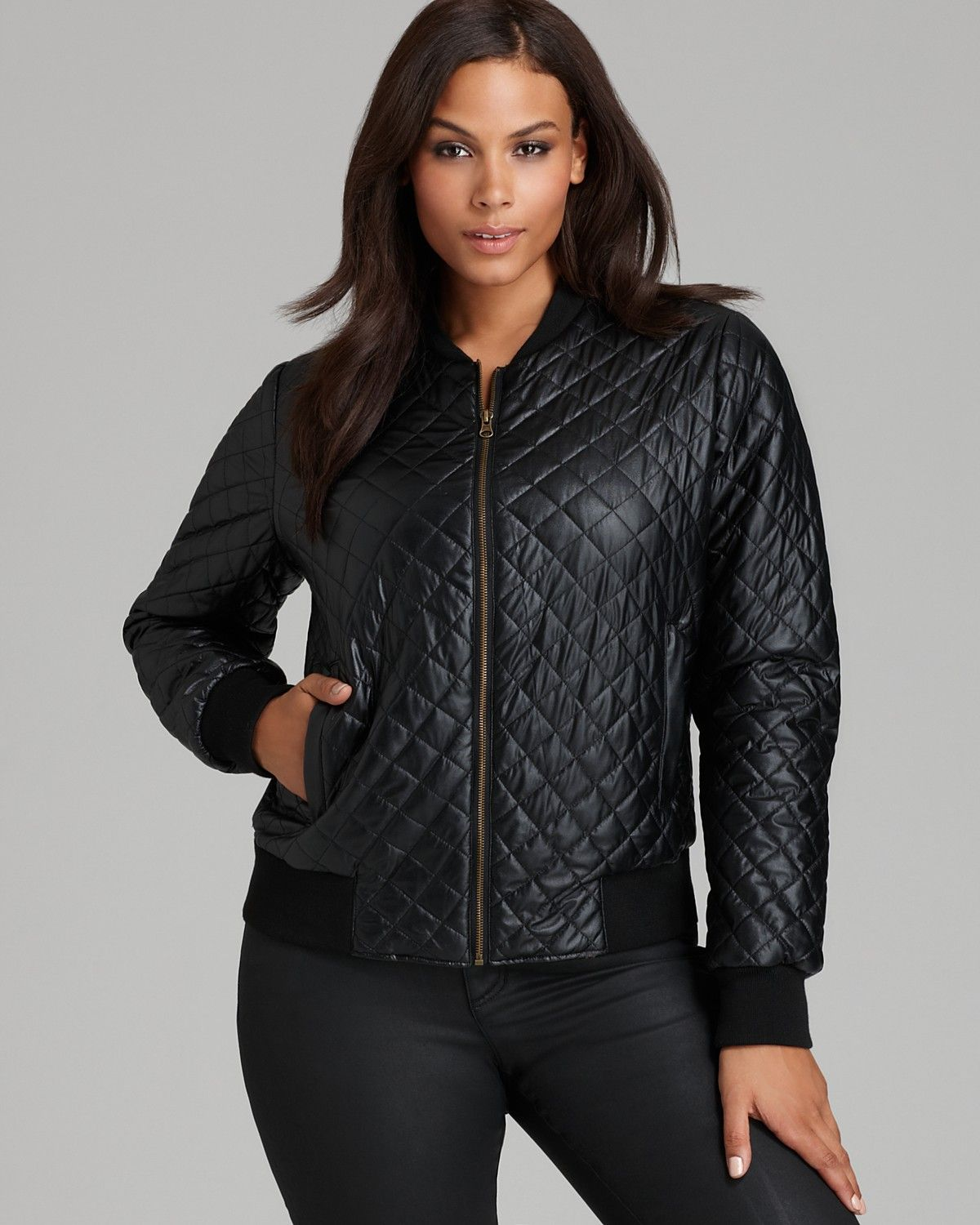 Anna Scholz plus size Quilted Bomber Jacket Bloomingdale