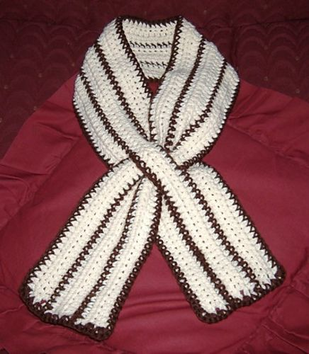 Ravelry Striped Keyhole Scarf Pattern By Lauren Conforti Outfits