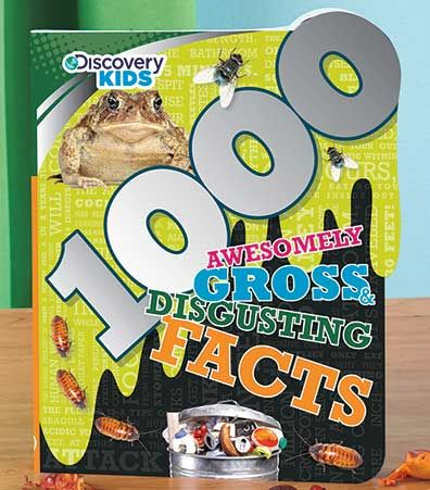 Get ready to learn extraordinary and revolting facts from a Discovery Kids 1000 Fact Book. The information in the Strange Animal Facts book is totally wild and completely unleashed. Find out which bird could lift a human, what insect can survive being frozen solid and more! Gross & Disgusting Facts are just that, the most revolting things, people, places and animals in the universe. Get ready to hold your stomach and learn about which flower smells like rotten flesh, why some people eat thei
