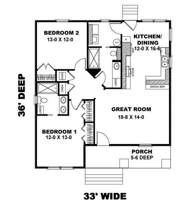 House Plan 1776 00004 Craftsman Plan 1 073 Square Feet 2 Bedrooms 2 Bathrooms New House Plans Cottage Style House Plans House Floor Plans