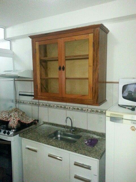 Armario De Cozinha Estilo Rustico Madeira Reciclada De Demolicao