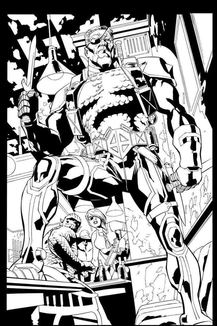 Deathstroke Batman Coloring Pages Deathstroke Art