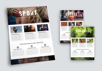 Fitness and Nutrition Flyer Layout Set 2 , #ad, #Nutrition, #Fitness, #Flyer, #Set, #Layout #Ad
