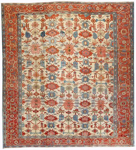 Serapi Carpet Northwest Persia Late 19th Century Size Approximately 10ft X 11ft Persian Carpet Serapi Rug Carpet