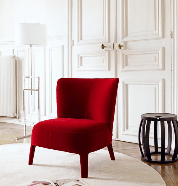 Eclecchic un toque de rojo love chairs en 2019 - Sofas individuales modernos ...