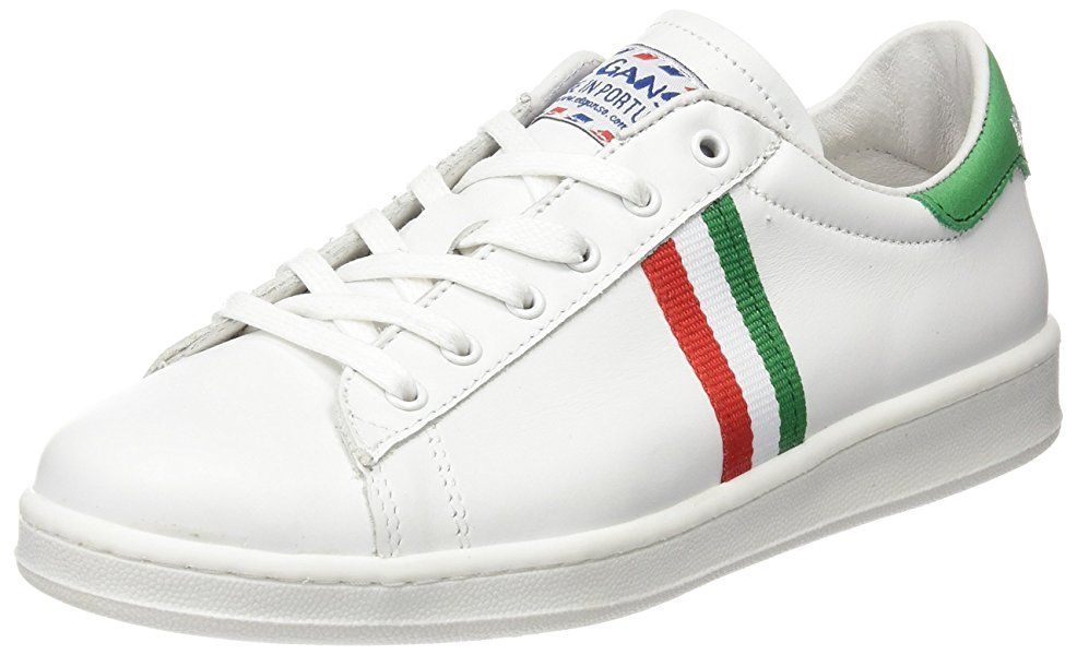 finest selection 776d1 03300 El Ganso Low Top Blanca Bandera Italia - Zapatillas, unisex, color blanco, talla  38