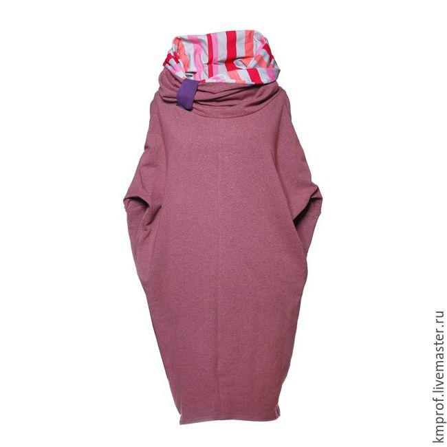 Платье с воротником-труба