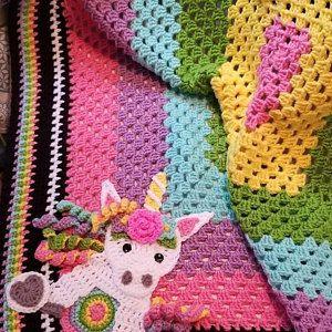 Crochet Pattern – INSTANT PDF DOWNLOAD – Unicorn Pattern – Crochet Unicorn – Boho Unicorn – Unicorns – Crochet Unicorns – Unicorn Applique