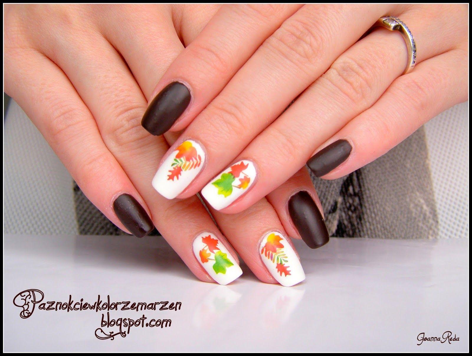 Paznokcie wzory na jesień