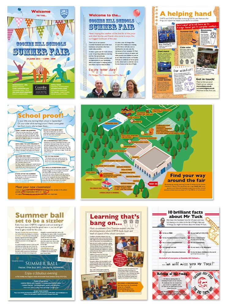 School 'Summer Fair' programme, handed out to visitors on the day.