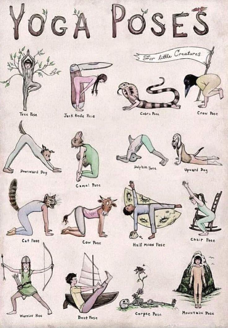 Photo of Was ist Ihre Lieblings-Yoga-Pose in dieser entzückenden Yoga-Illustration