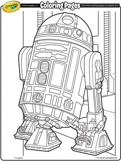 R2D2 Coloring Page   Coloring pages   Pinterest