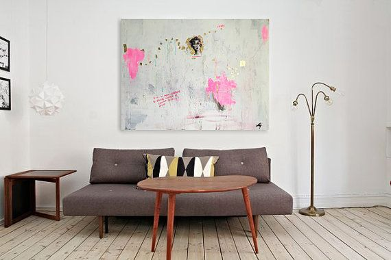 Gold leaf painting original painting acrylic on by courtneycorner