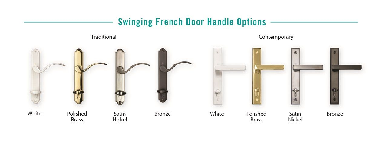 Malibu Swinging French Door Handle Options Traditional Vs Contemporary Vinyl Replacement Windows Door Handles Window Manufacturers