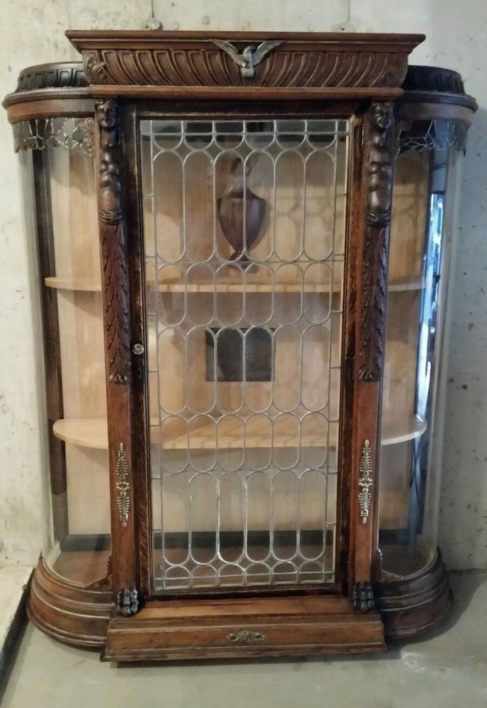 Vintage Up Cycled Glass Display Cabinet Glass Cabinets Display Display Cabinet Vintage Cabinets