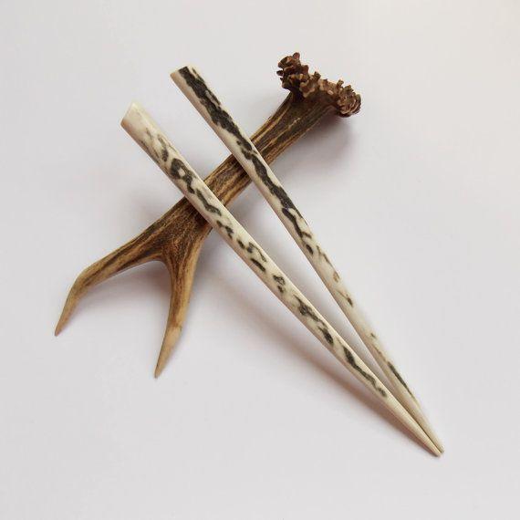 Hair Chopsticks Sticks Deer Antler Pin Haar Accessory Tribal Natural Accessories