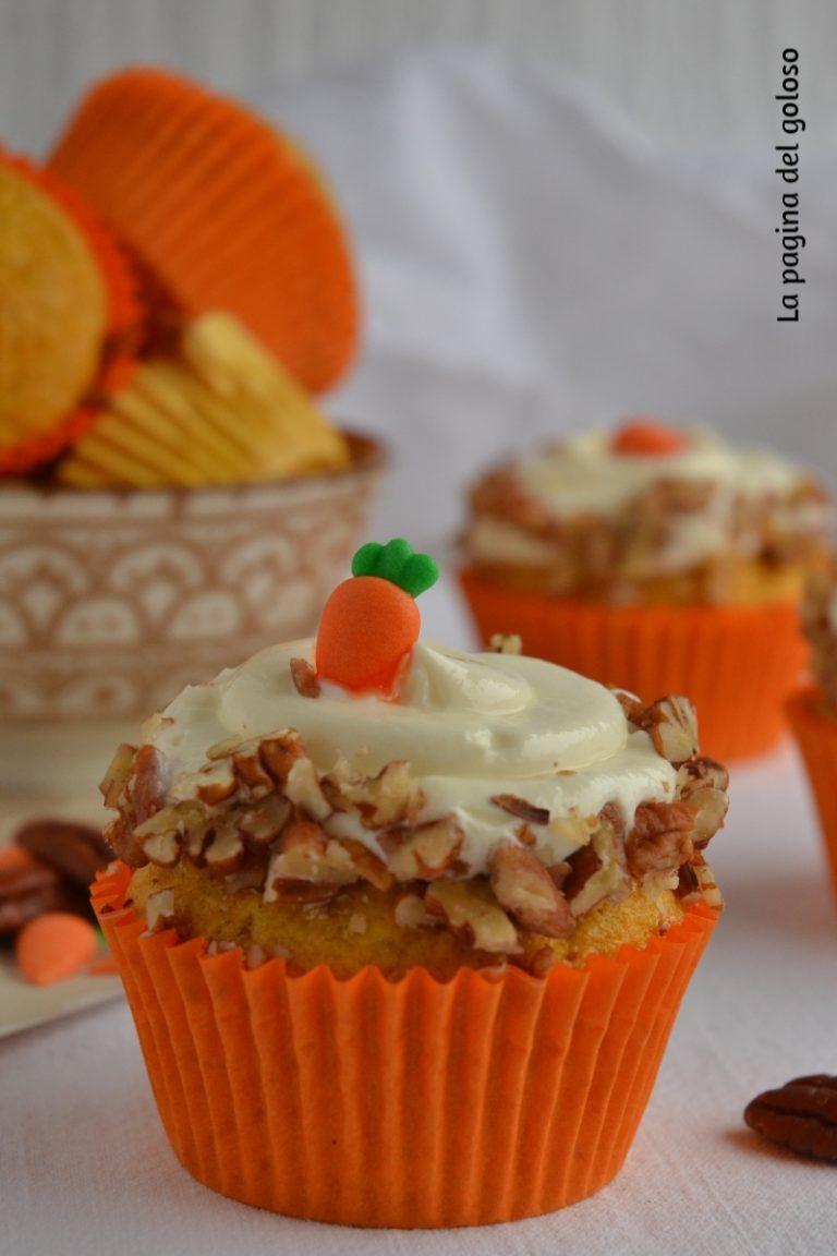 Ricette Dolci Semplici.Cupcake Alle Carote Con Noci Pecan Ricetta Per Un Dolce Semplice E Goloso