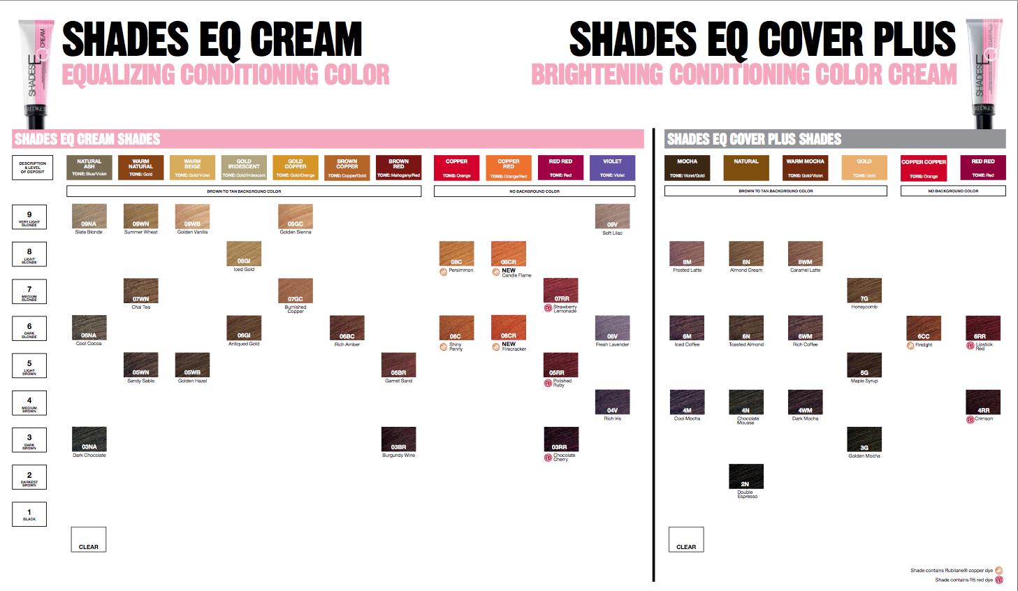 Redken Shades Eq Cover Plus Color Chart Redken Hair Color Hair Color Chart Redken Hair Color Chart