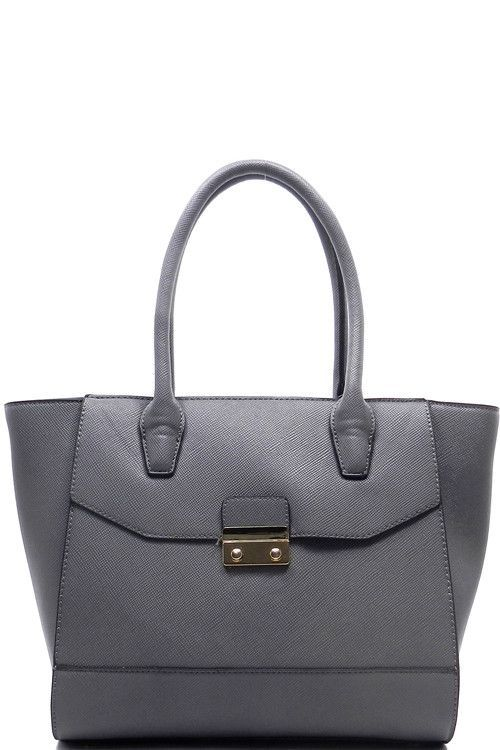 Luxe Top Handle Tote (Gray)