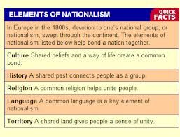 Elements Of Nationalism Writing Classes Beliefs Education