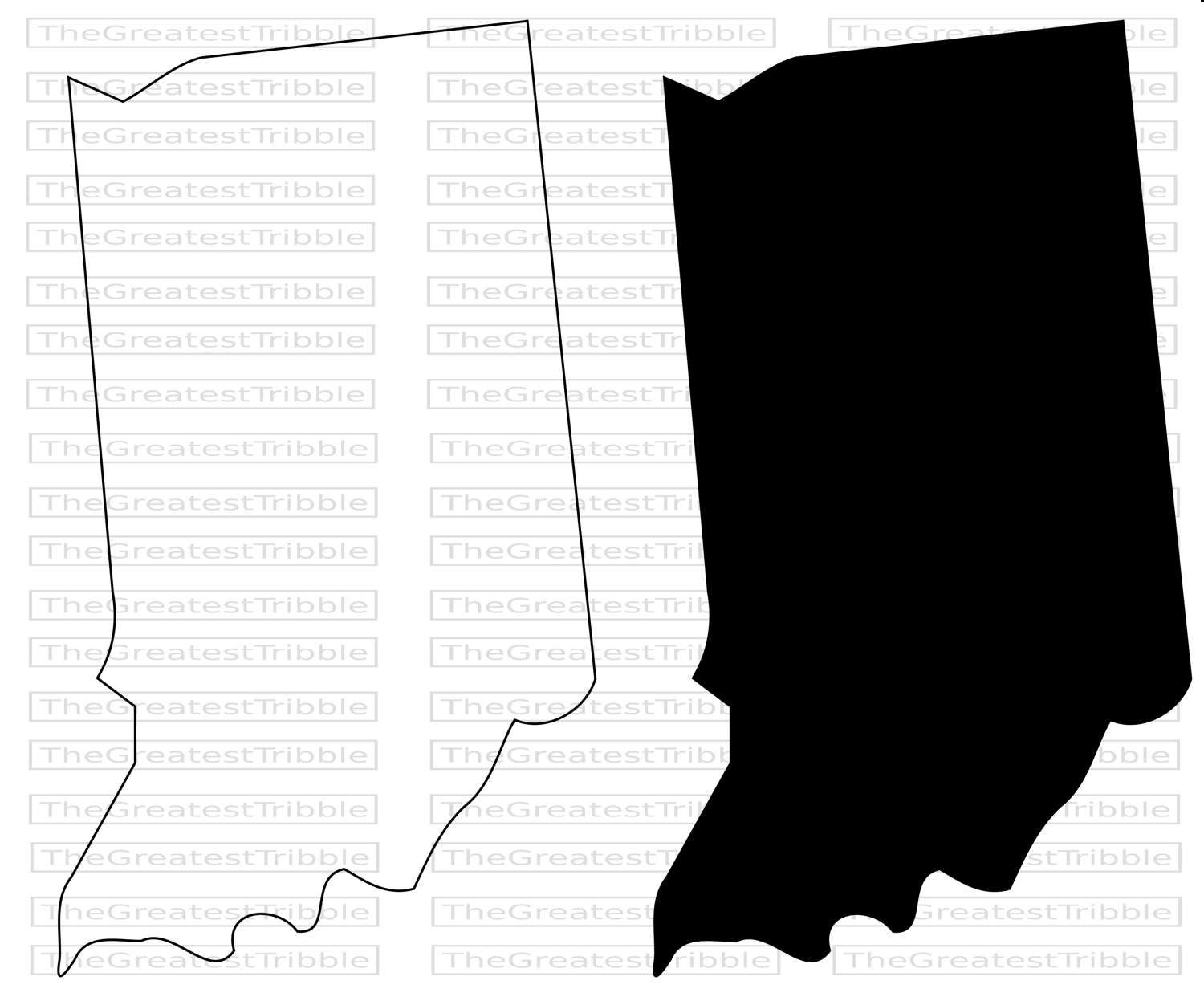 Indiana State Map Svg Png Jpg Eps Vector Graphic Clip Art Indiana State Outline State Outline Indiana State State Map