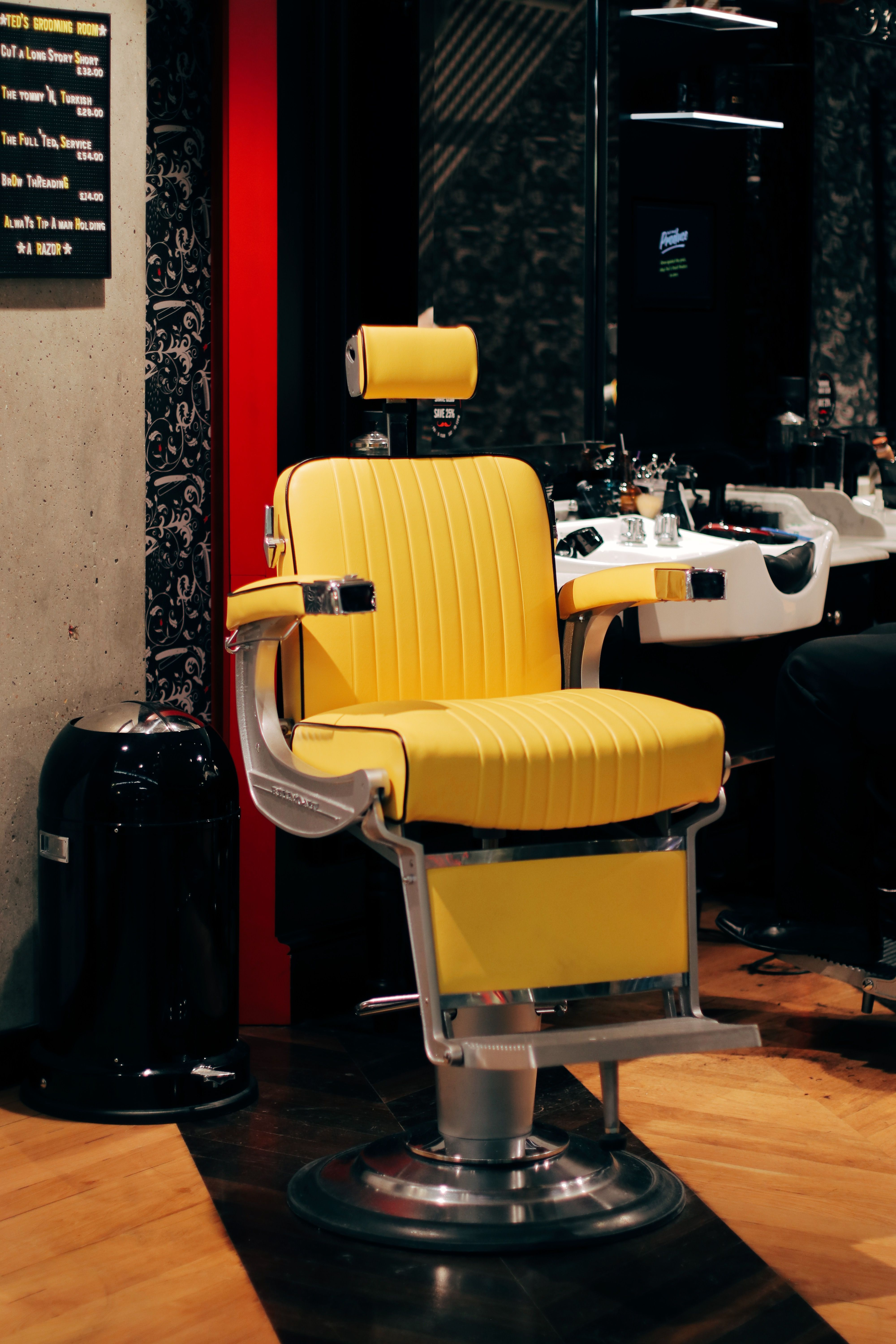 Come In And Let The Canary Yellows Brighten Your Day Barbershop