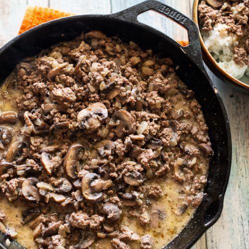 Mushroom Beef & Rice #beefandrice