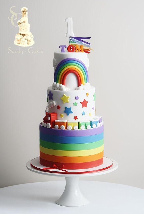 Fabulous A Roundup Of Rainbow Cake Tutorials Rainbow Birthday Cake Personalised Birthday Cards Xaembasilily Jamesorg