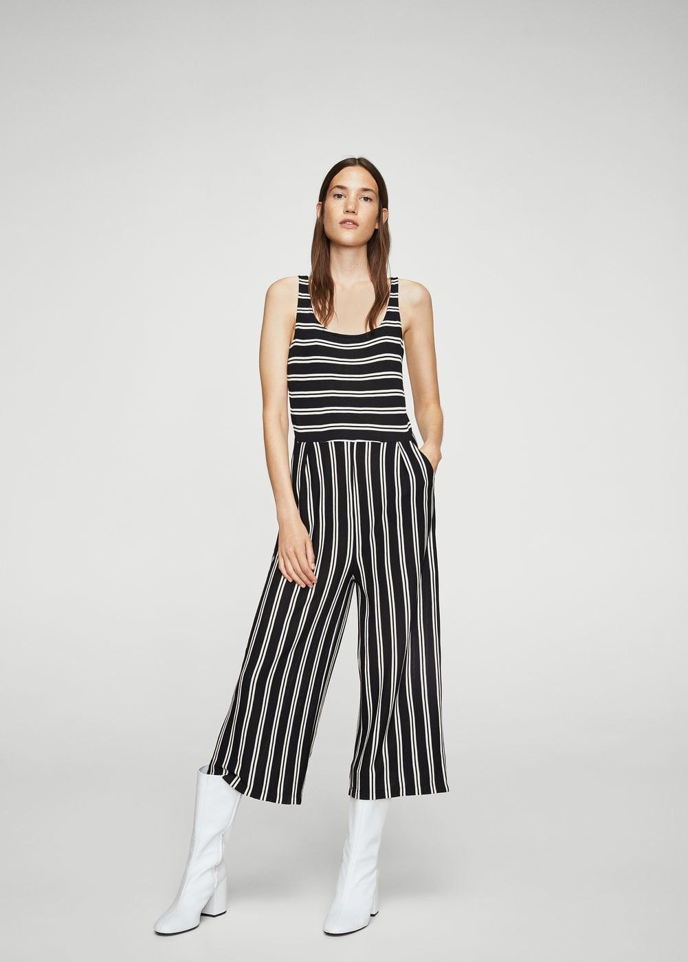 9fd9f60fae7c Cropped striped jumpsuit - Women