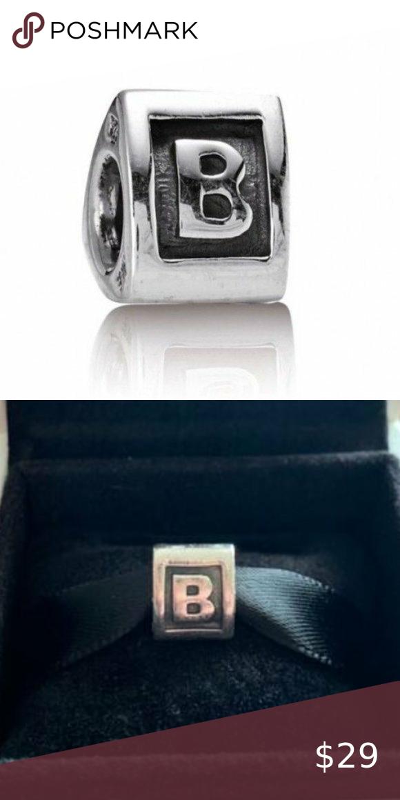 Authentic Pandora Block Letter B Charm Block Lettering Pandora Jewelry Pandora