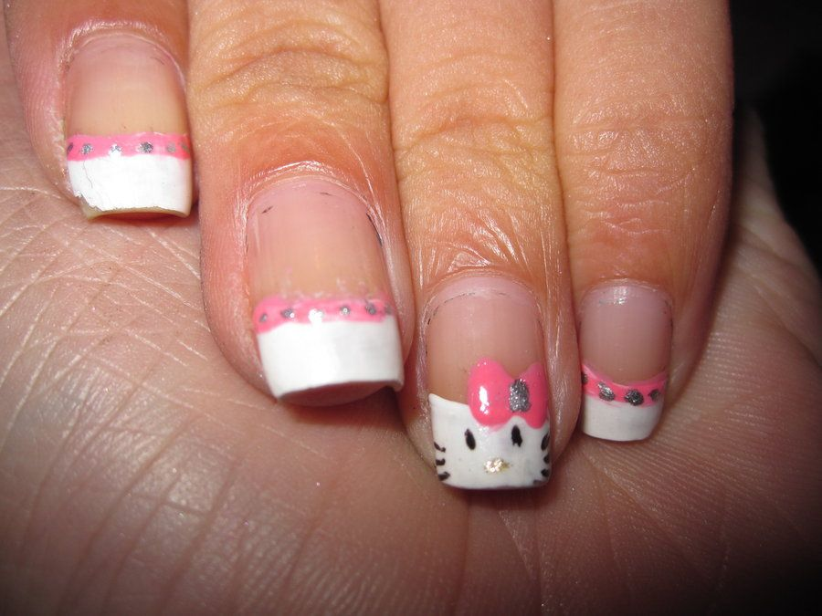 5 Cute Hello Kitty Nail Designs For Girls2 Nail Designs