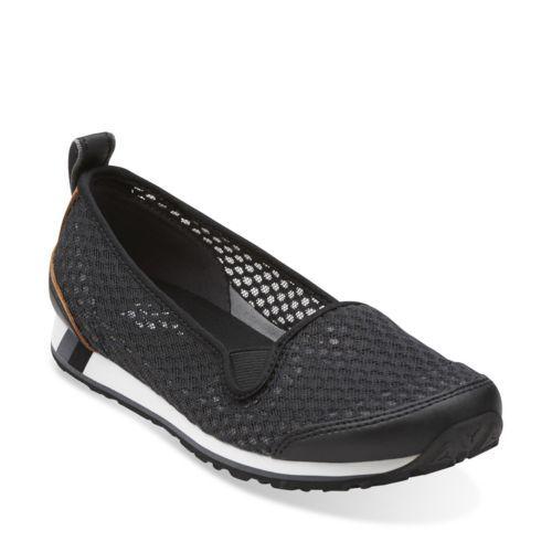 Womens Shoes Clarks Incast Pump Black Mesh