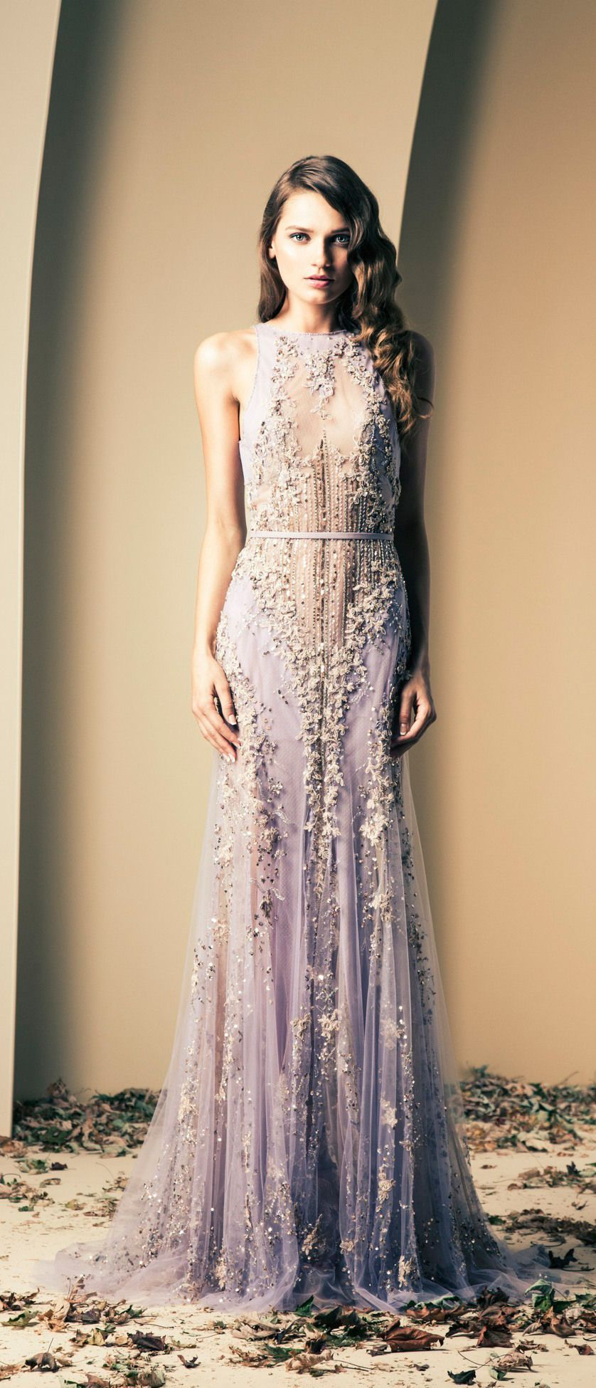 Ziad nakad lavender sequin embellished wedding gown gowns