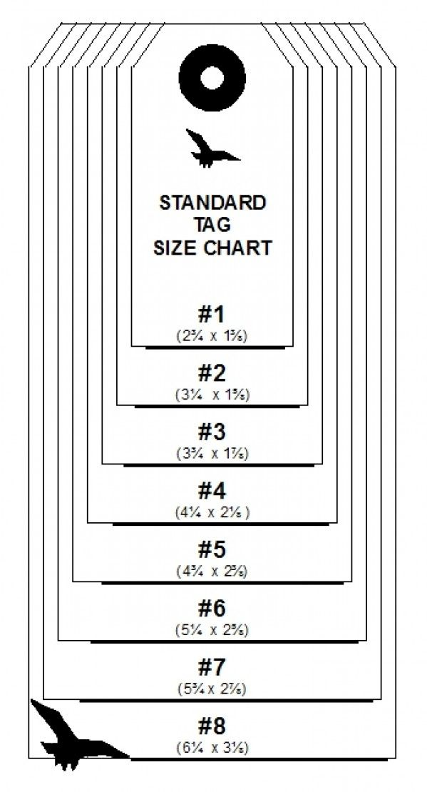 standard gift tag sizes