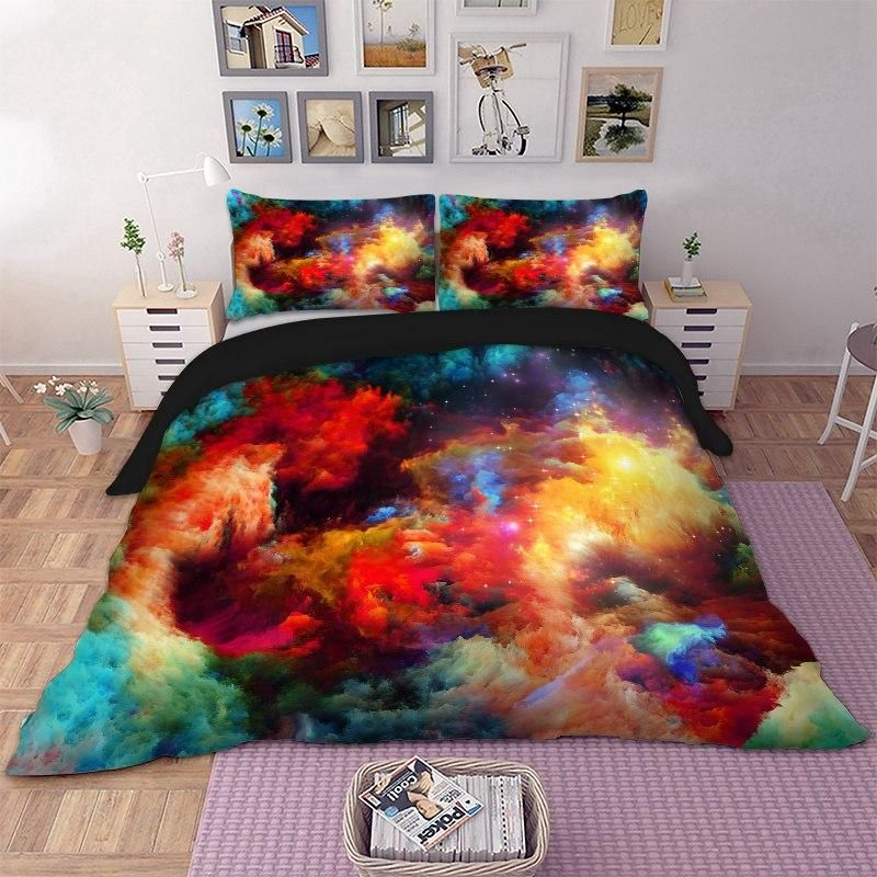 3d Galaxy Star Duvet Cover Bedding Set Luxurious Bedrooms Bed