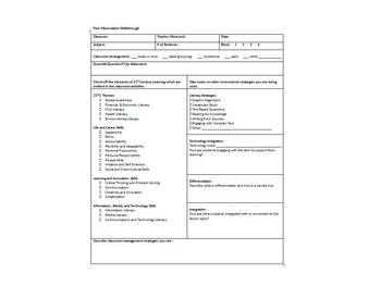 Instructional Coaching Forms For Teacher Leaders Or Administrators