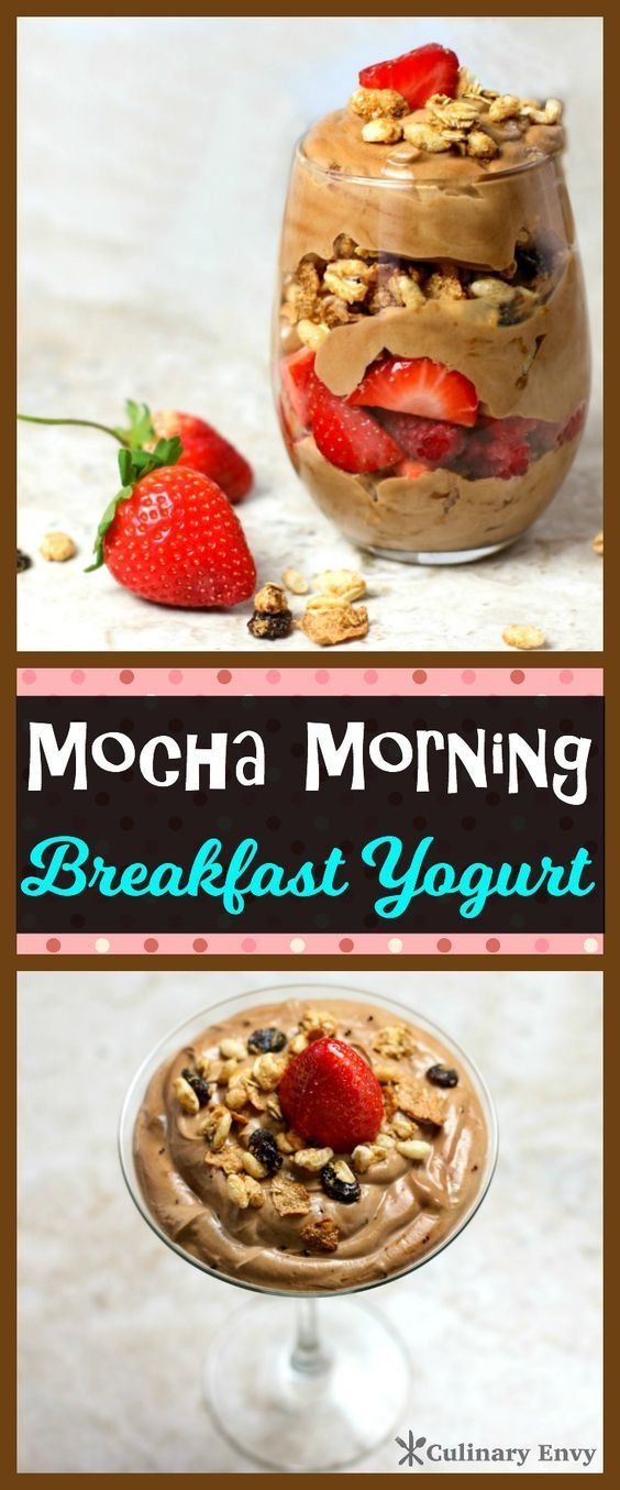 This Mocha Morning Breakfast Yogurt parfait is loaded with chocolate whey protein, Greek yogurt, honey, cinnamon, crunchy granola, fresh fruit and a jolt of caffeine to start your day off right! Click to read more.