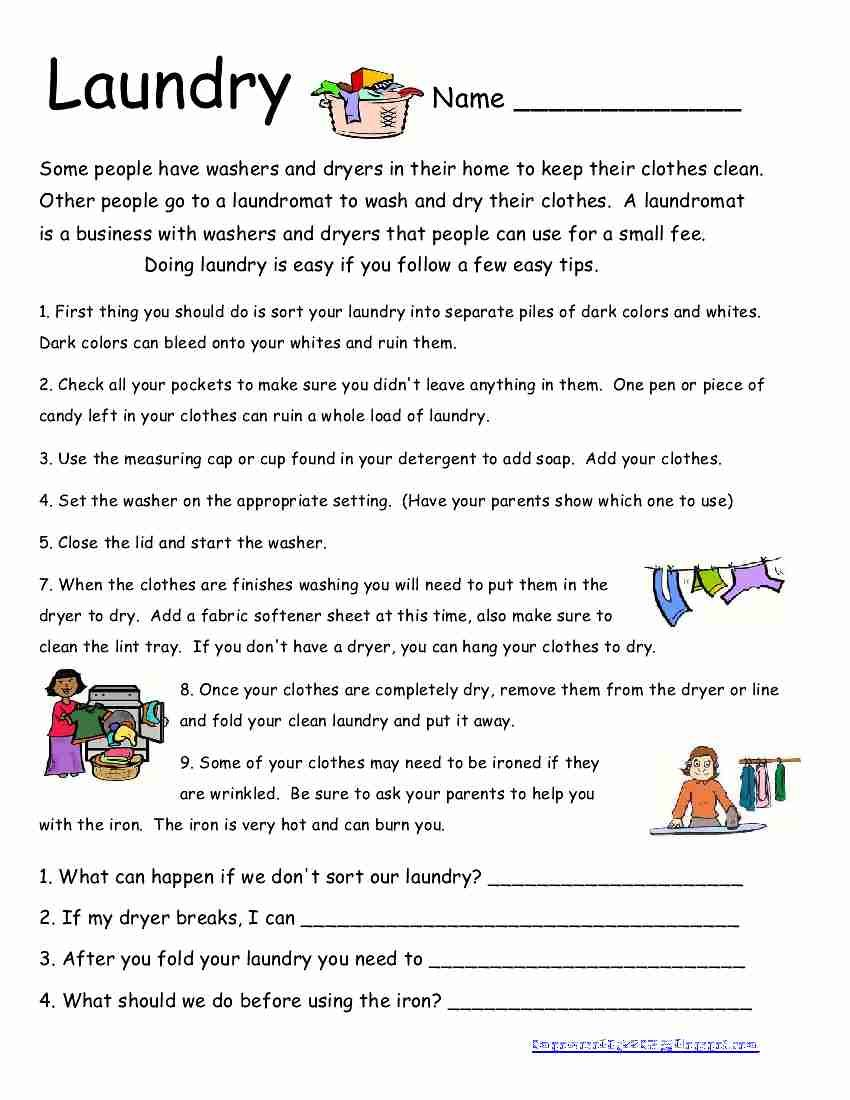 worksheet Life Skills Worksheets For Adults here is another life skills worksheet i wish all my students did their own laundry