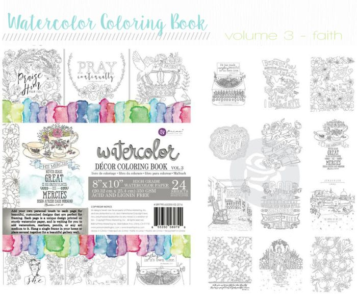 Wild Coloring Release Prima Watercolor Coloring Books Color