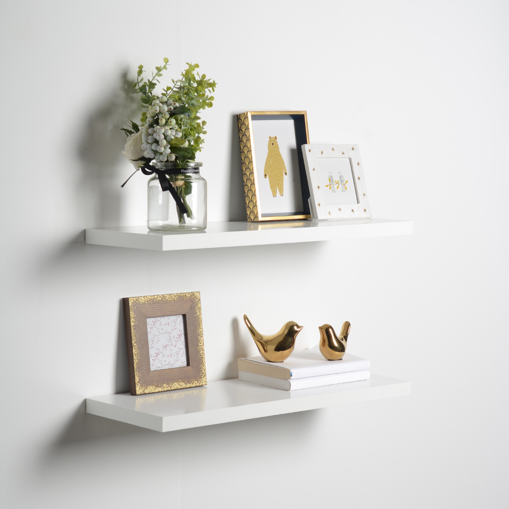 Free 2 Day Shipping On Qualified Orders Over 35 Buy Floating Shelf 8 X 24 X 1 White At Walmar In 2020 Floating Shelves Floating Wall Shelves White Floating Shelves