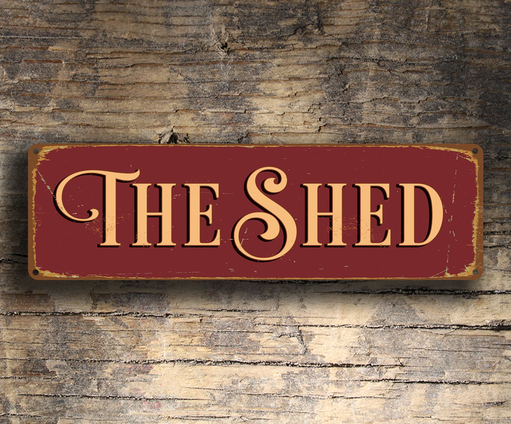 The Shed Sign Outdoor Signs Classic Metal Signs Shed Signs Lodge Signs Outdoor Signs