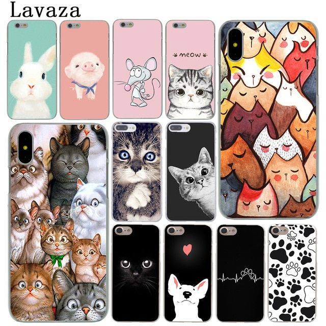 91b835abbb Cartoon Cat Cute Mouse Pig Cats Dog Hard Cover Case for iPhone X XS Max XR 6  6S 7 8 Plus 5 5S SE 10 Phone Cases Rabbit dog Review