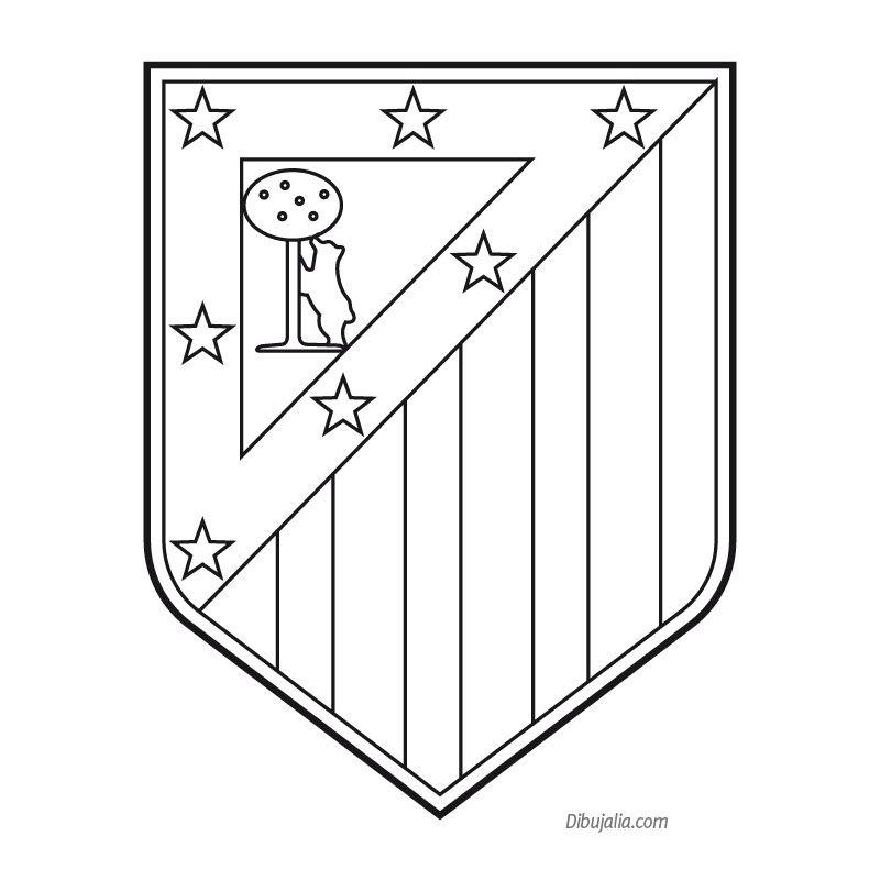 plantilla escudo atletico de madrid | bendita afición! | Pinterest ...