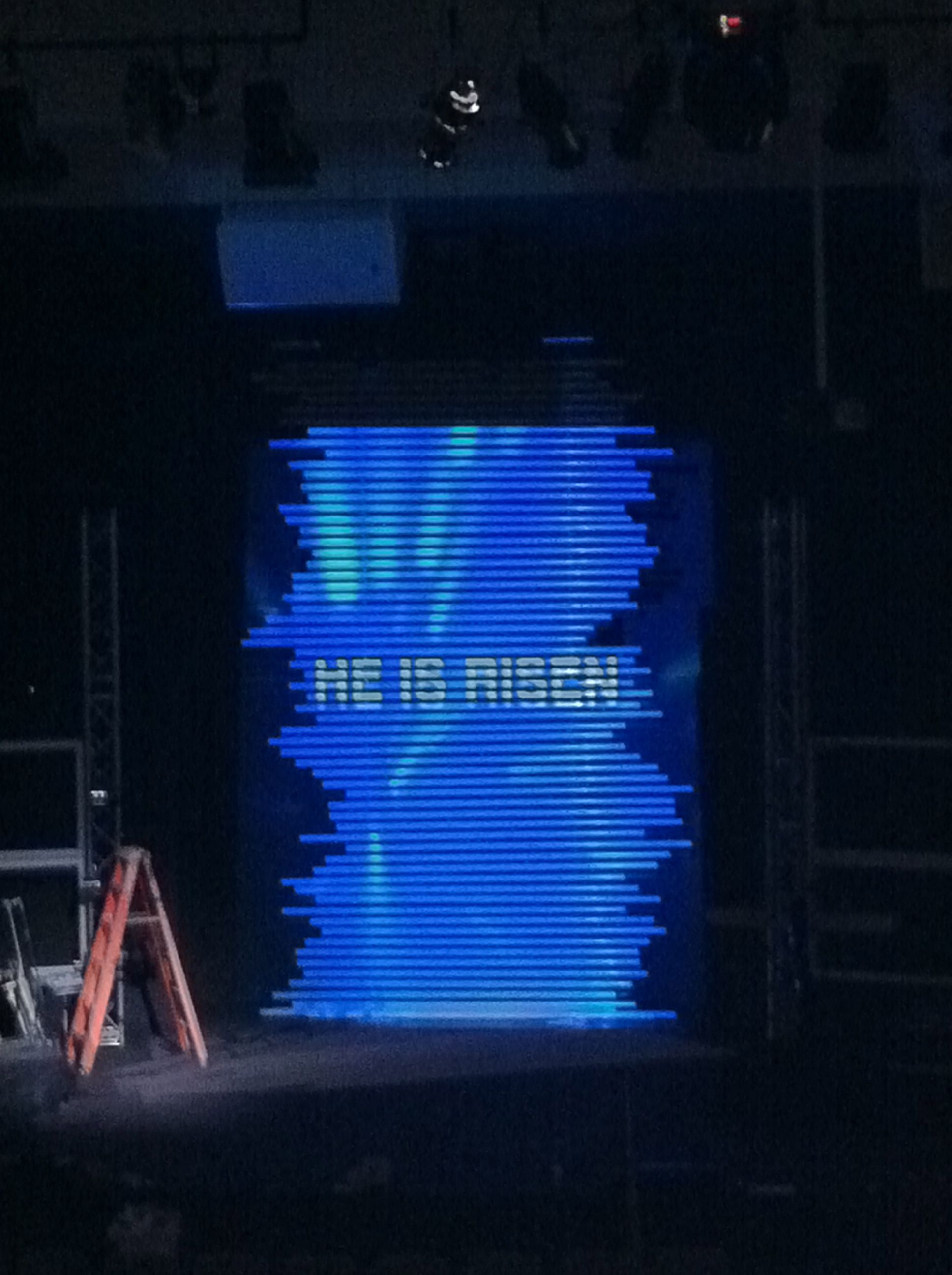 pvc wall with projected images design   Stage designs for church ...