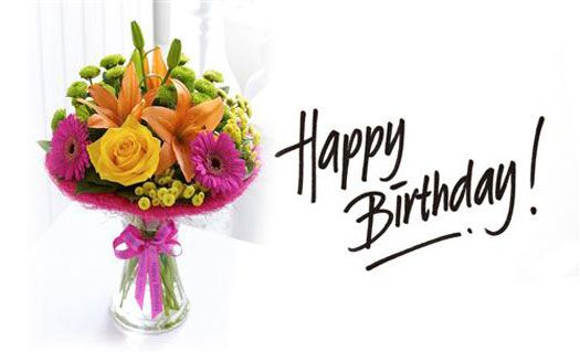 Happy Birthday With Flower Is A HD Wallpaper Posted In Festival Holidays Category You